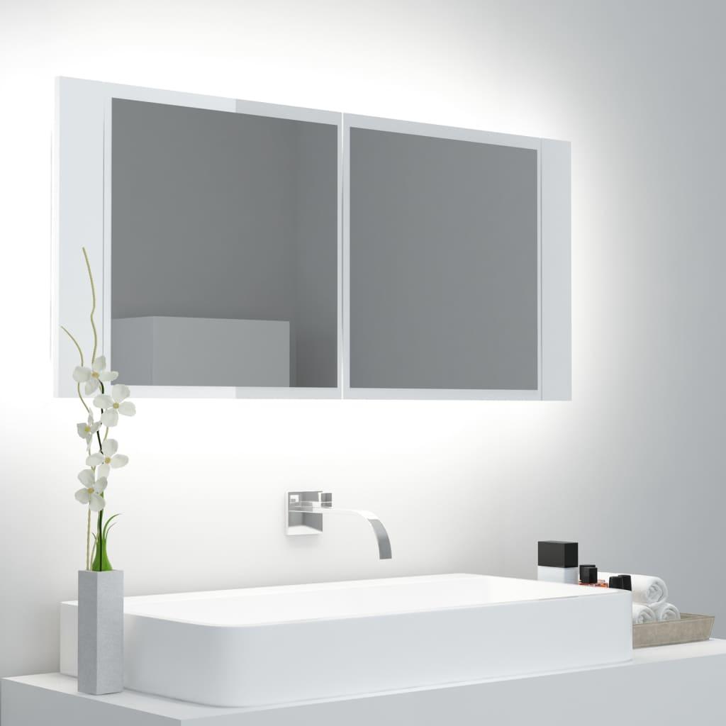 LED-peeglikapp kõrgläikega..