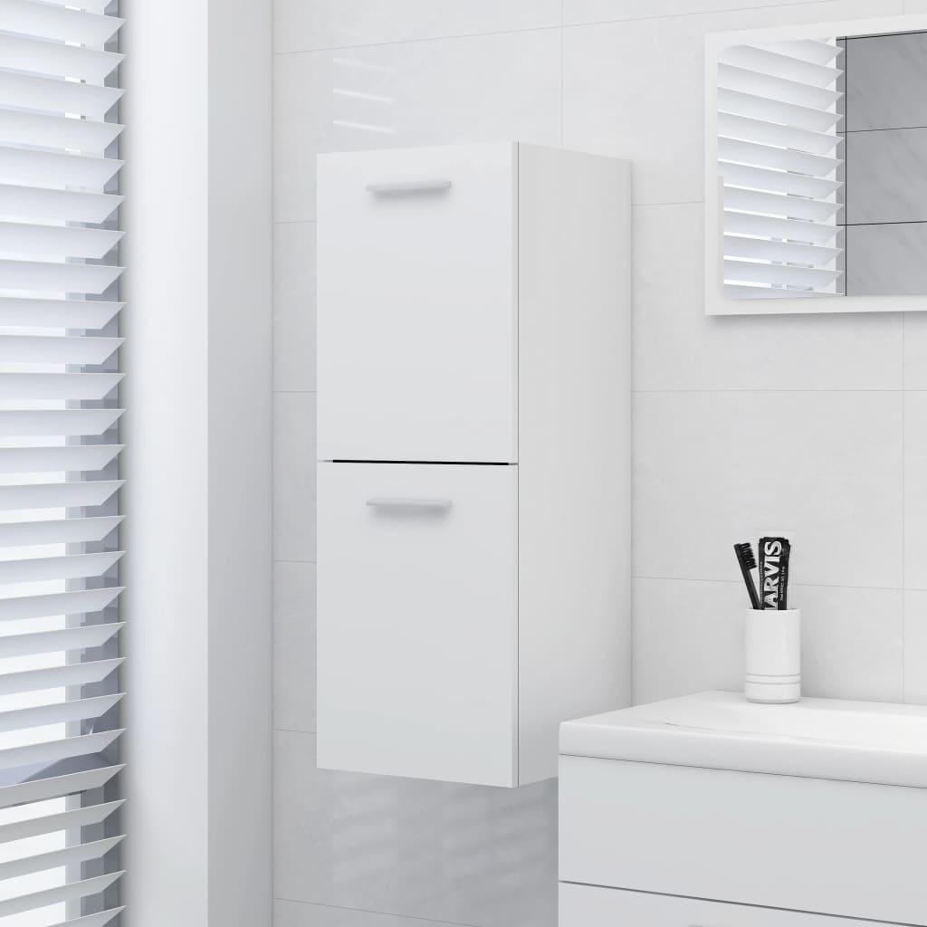 Koupelnová skříňka bílá 30 x 30 x 80 cm dřevotříska