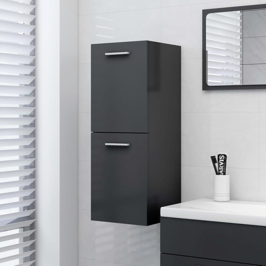 Koupelnová skříňka šedá 30 x 30 x 80 cm dřevotříska