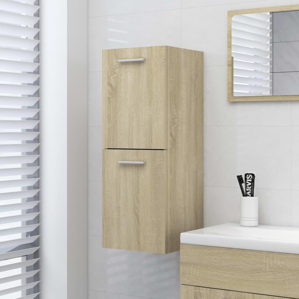 Koupelnová skříňka dub sonoma 30 x 30 x 80 cm dřevotříska