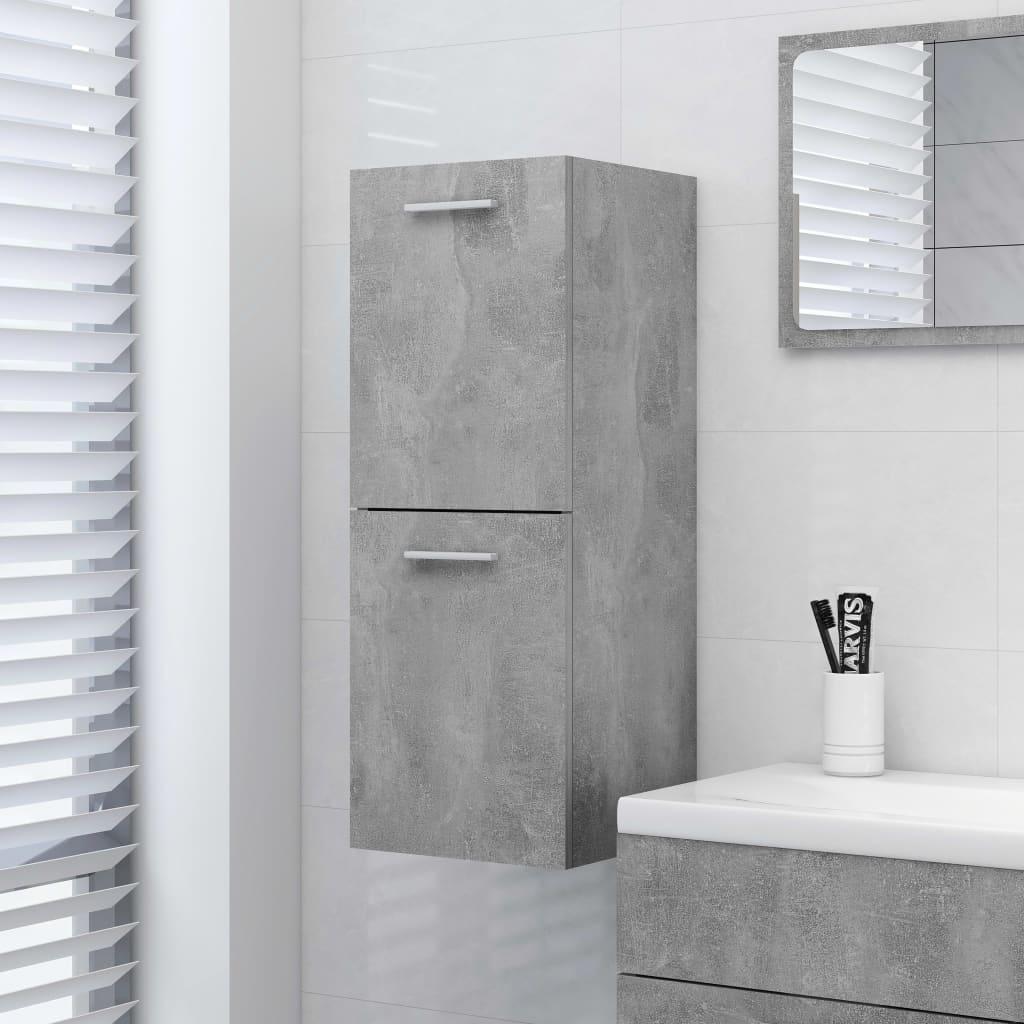 Koupelnová skříňka betonově šedá 30 x 30 x 80 cm dřevotříska