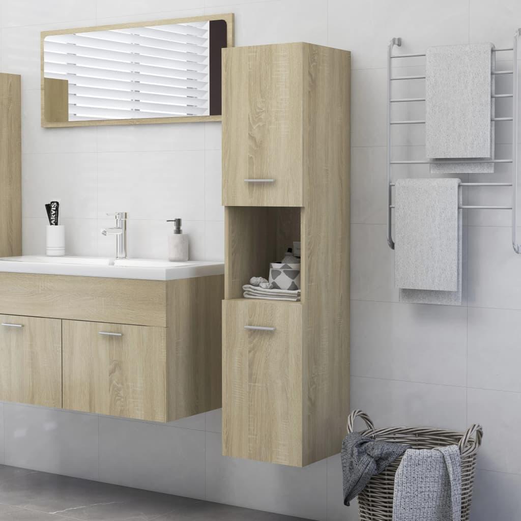 Koupelnová skříňka dub sonoma 30 x 30 x 130 cm dřevotříska