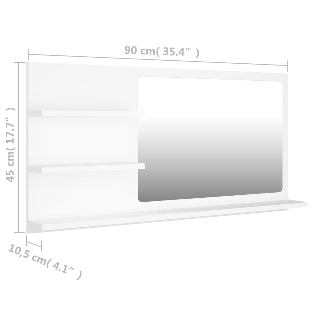 vidaXL Badkamerspiegel 90x10,5x45 cm spaanplaat wit