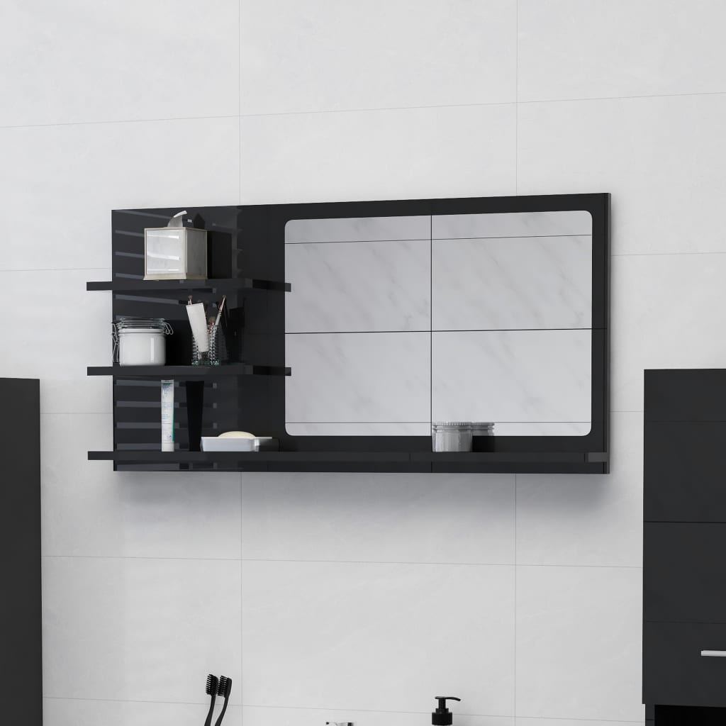 Vannitoa peeglikapp must 90x..