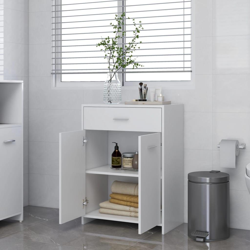Vidaxl Bathroom Cabinet White 60x33x80, Argos Home Gloss Bathroom Floor Cabinet White
