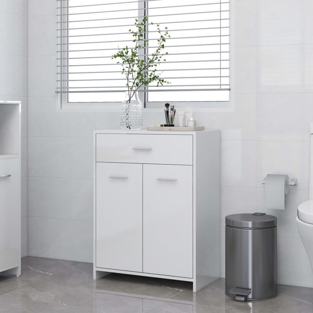 vidaXL Dulap de baie, alb extralucios, 60 x 33 x 80 cm, PAL