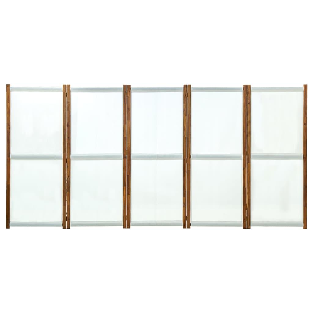 5 paneeliga ruumijagaja, kreemjasvalge, 350 x 170 cm