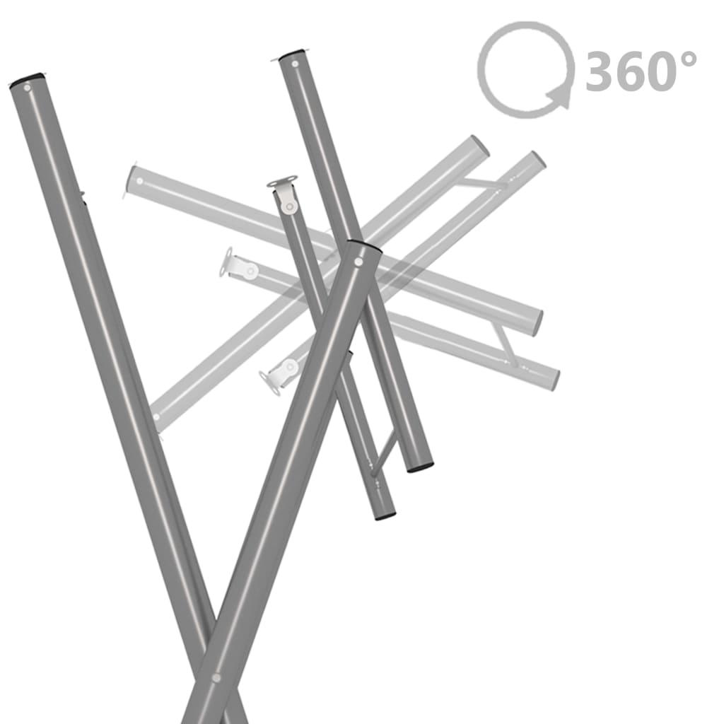 vidaXL Bartafel inklapbaar 60x113 cm staal en natuurlijk grenenhout