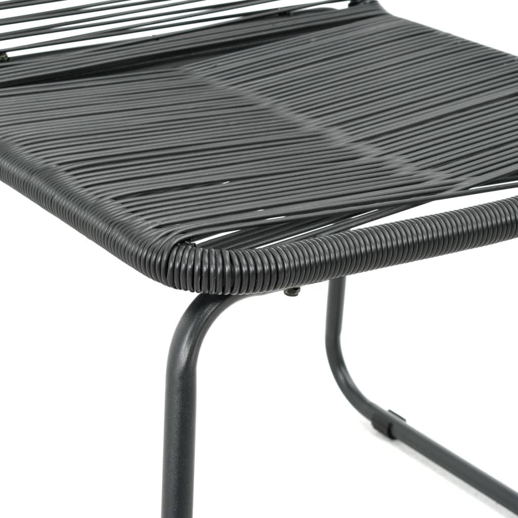 vidaXL 9-delige Tuinset PVC-rattan zwart