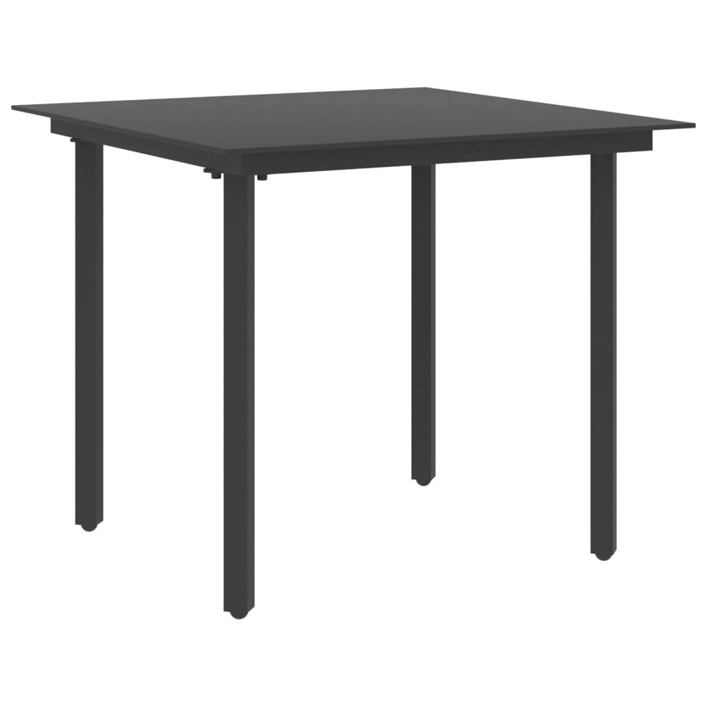 vidaXL 3-delige Tuinset PVC-rattan zwart