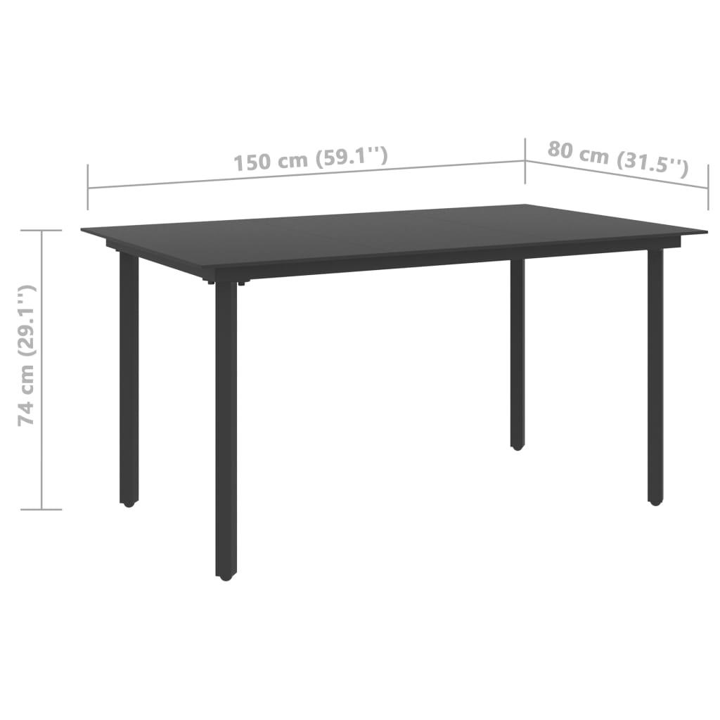 vidaXL 5-delige Tuinset PVC-rattan zwart