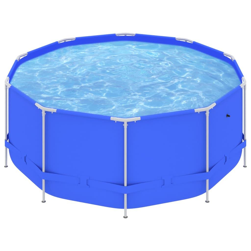 Bazén s ocelovým rámem 367 x 122 cm modrý