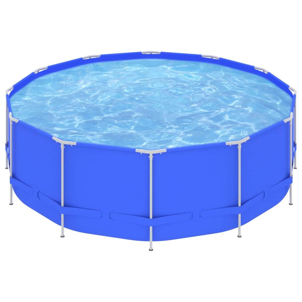 Bazén s ocelovým rámem 457 x 122 cm modrý