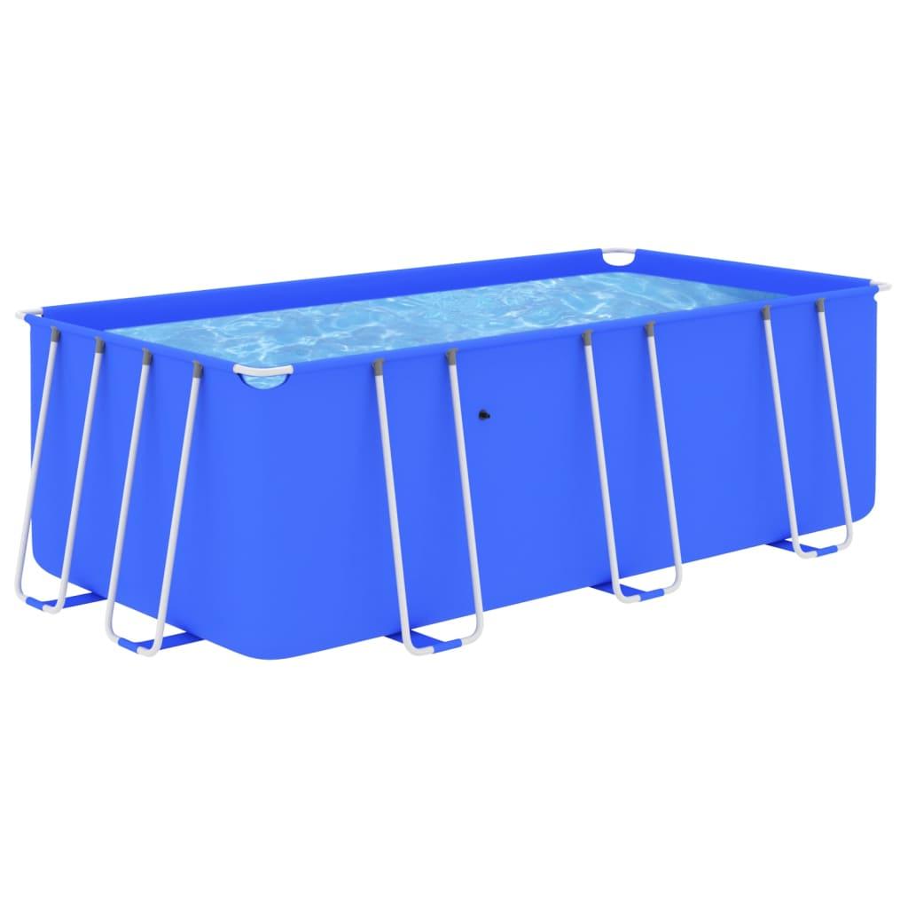 Bazén s ocelovým rámem 400 x 207 x 122 cm modrý