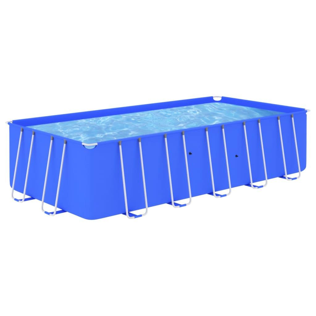 Bazén s ocelovým rámem 540 x 270 x 122 cm modrý