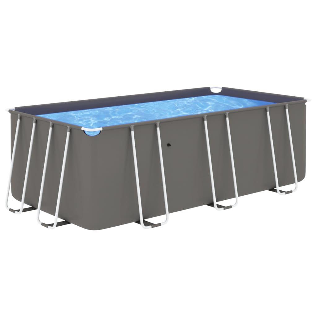 Bazén s ocelovým rámem 400 x 207 x 122 cm antracitový