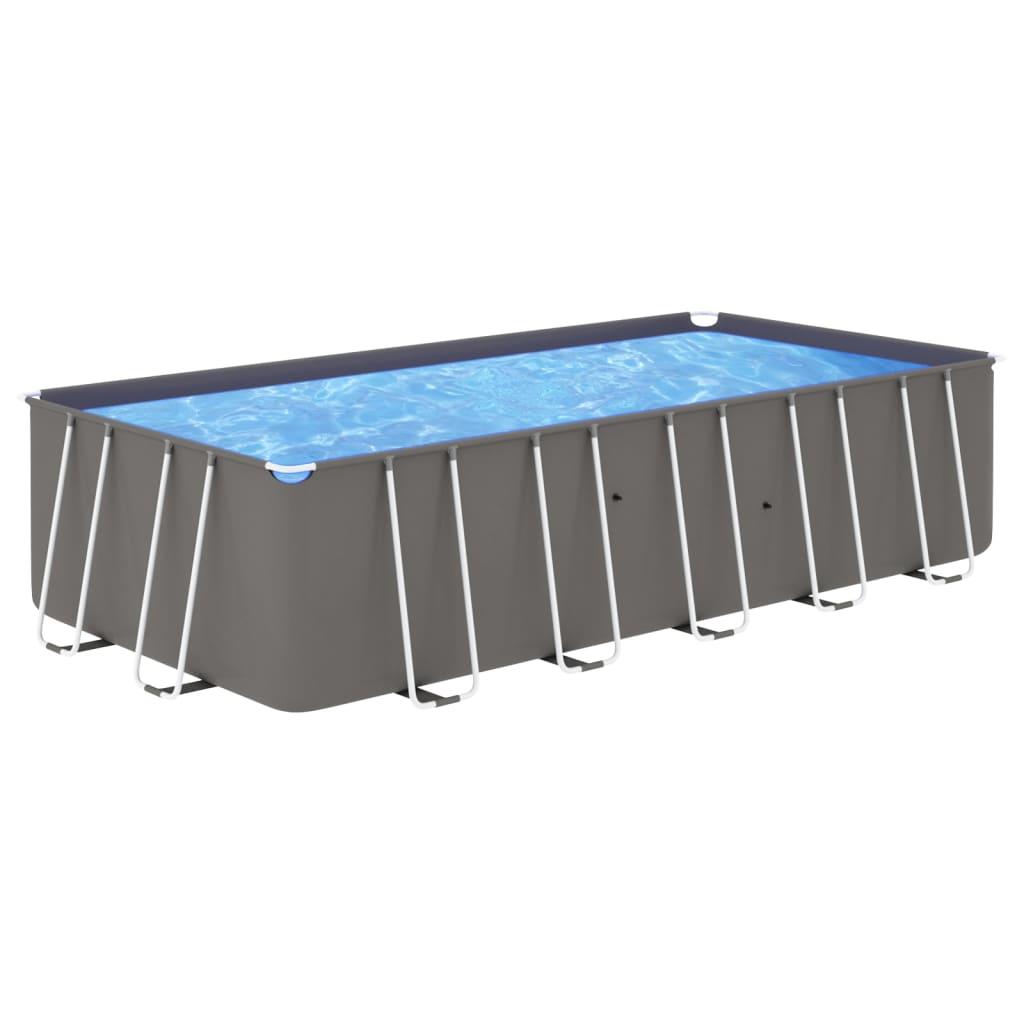 Bazén s ocelovým rámem 540 x 270 x 122 cm antracitový