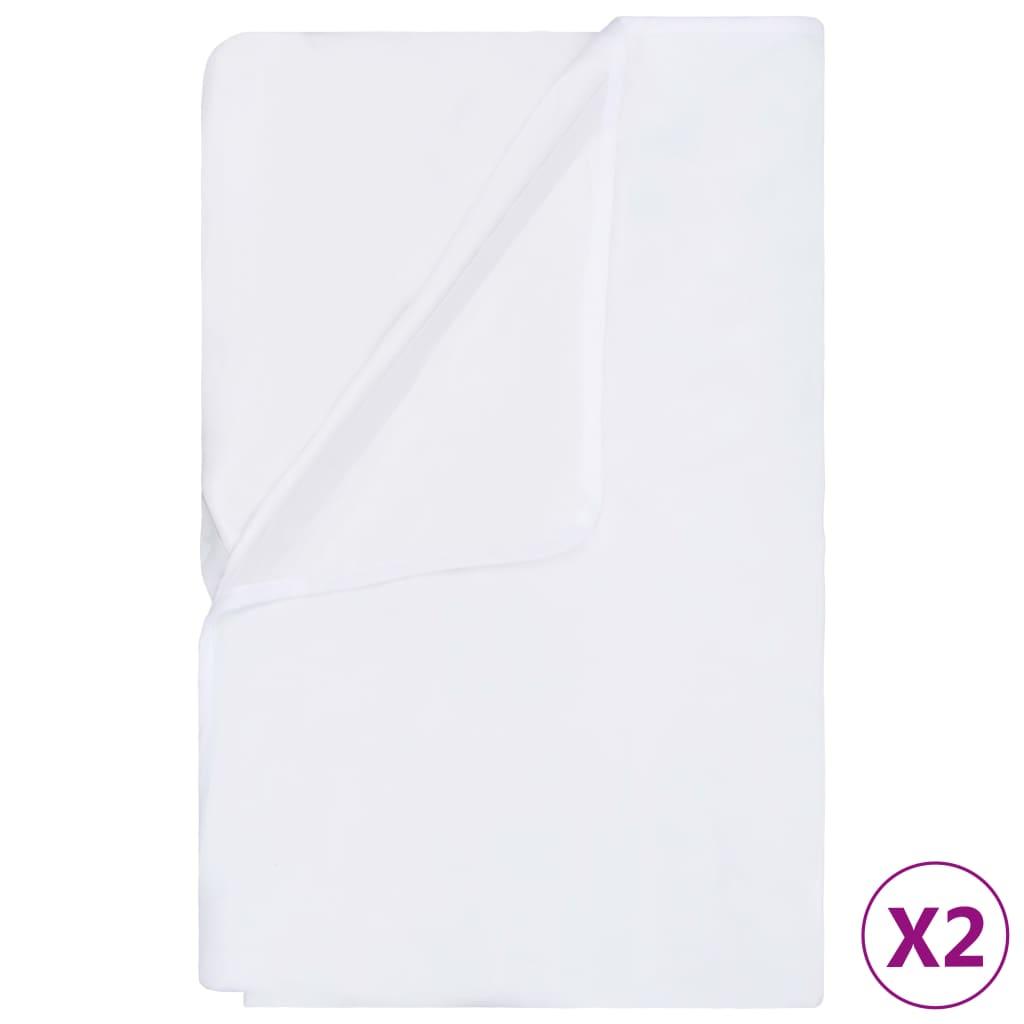 Chránič matrace voděodolný 2 ks bavlna 60 x 120 cm bílý