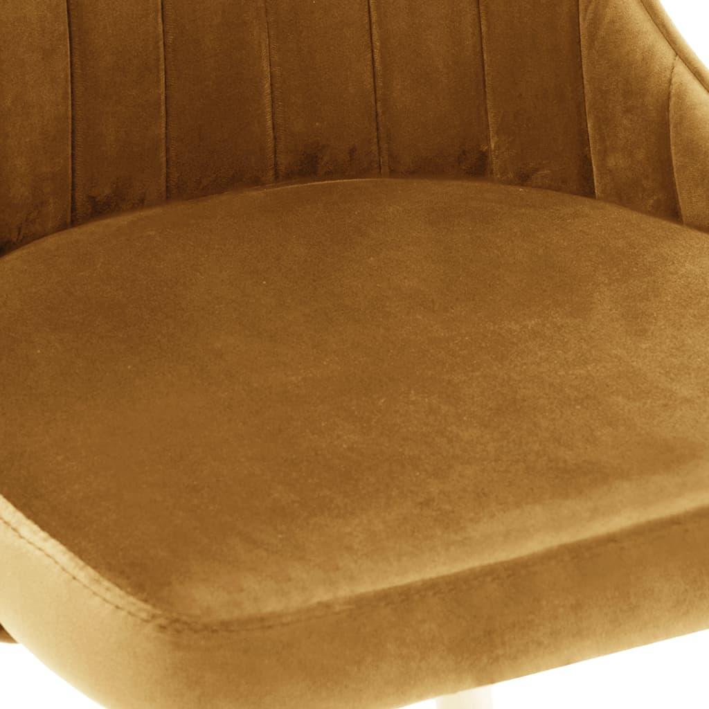 vidaXL Eetkamerstoelen 4 st fluweel bruin