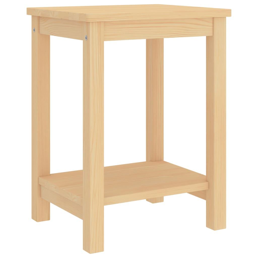 Noční stolek světlé dřevo 35 x 30 x 47 cm masivní borové dřevo