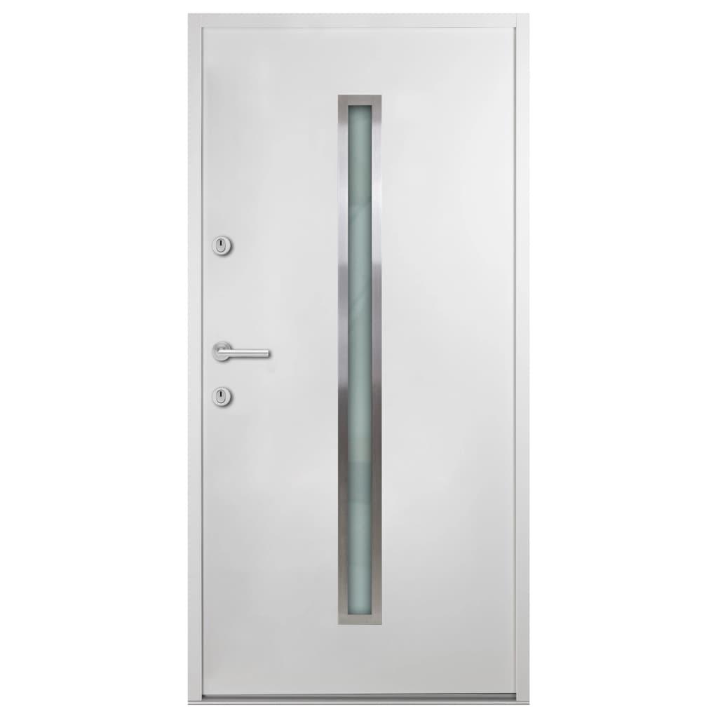 Voordeur 90x200 cm aluminium wit