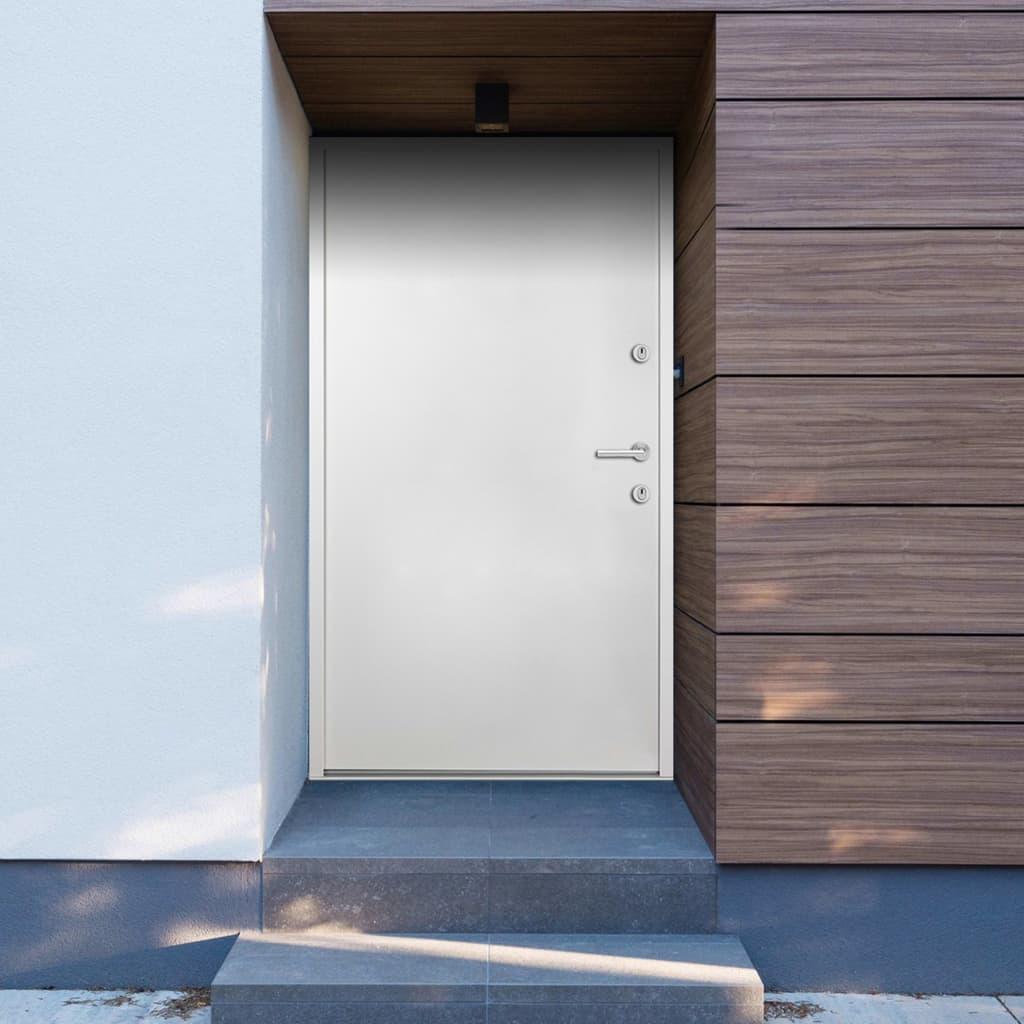 Hliníkové vchodové dveře bílé 100 x 200 cm
