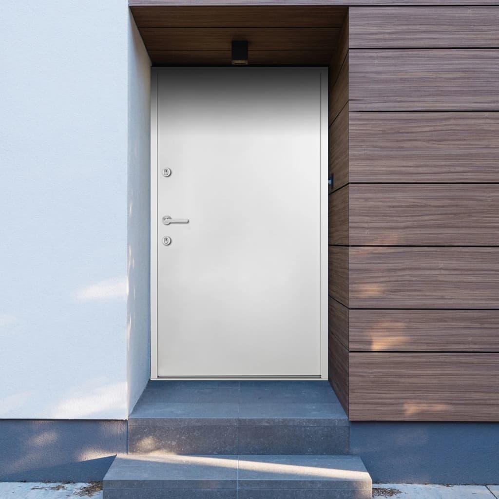 Hliníkové vchodové dveře bílé 110 x 207,5 cm