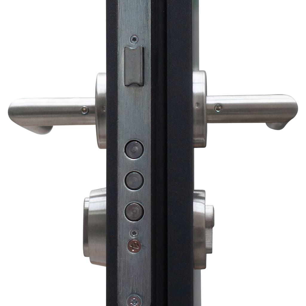 vidaXL Voordeur 90x200 cm aluminium antraciet
