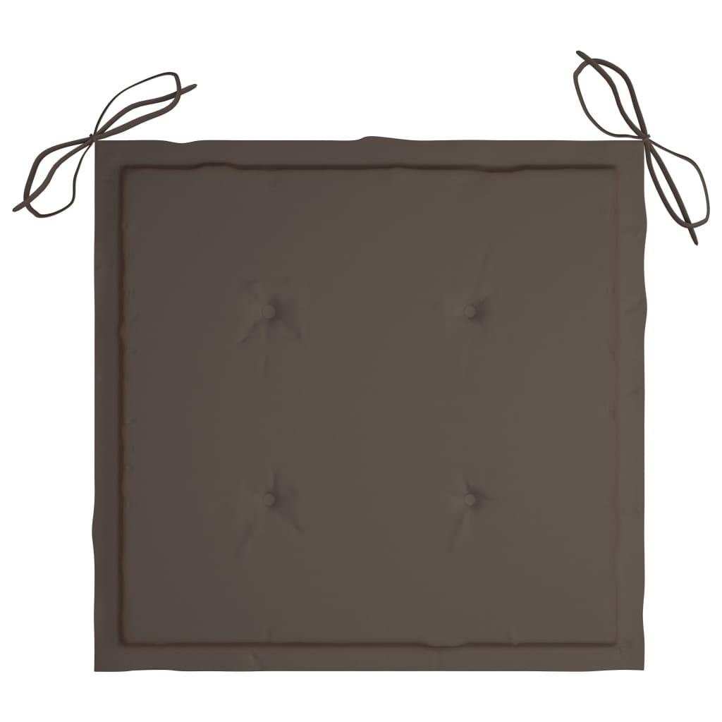 vidaXL Regisseursstoelen 2 st met kussens massief acaciahout grijs