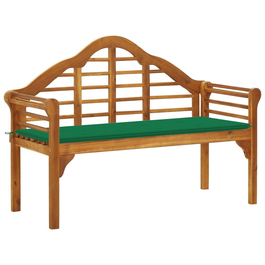 vidaXL Královská zahradní lavice s poduškou 135 cm masivní akácie