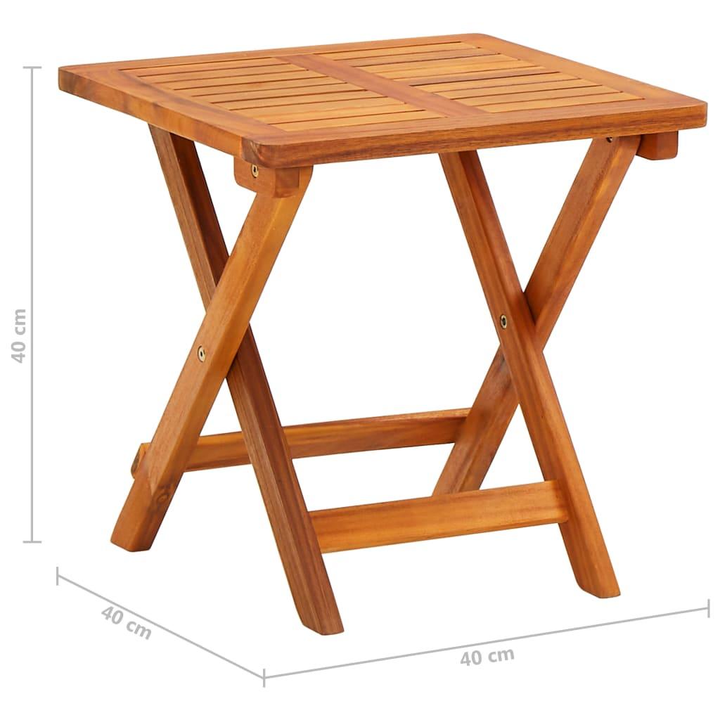vidaXL Ligbed met tafeltje en kussen massief acaciahout