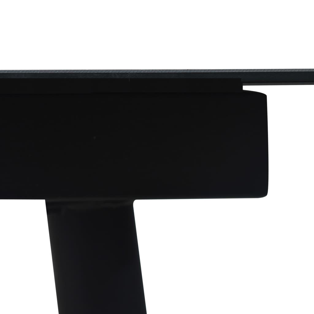 7-osaline aiamööblikomplekt, PVC-rotang, must