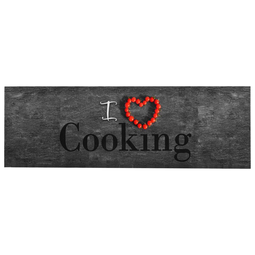 vidaXL Küchenteppich Waschbar Cooking 60×300 cm