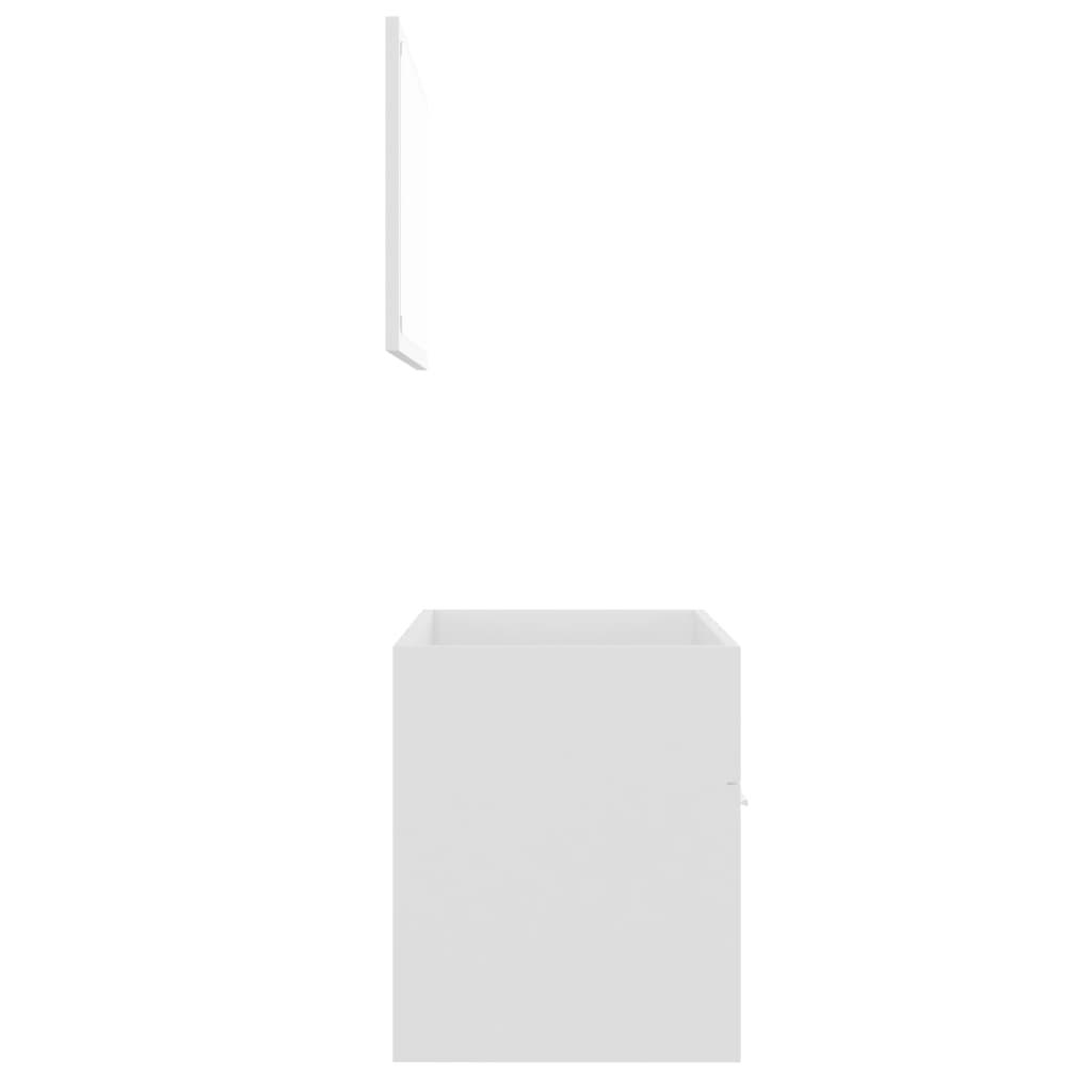 vidaXL 2-delige Badkamermeubelset spaanplaat wit
