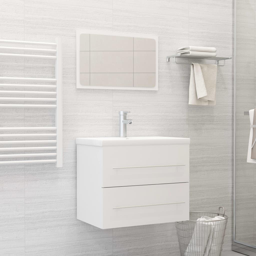 2dílný set koupelnového nábytku bílý dřevotříska