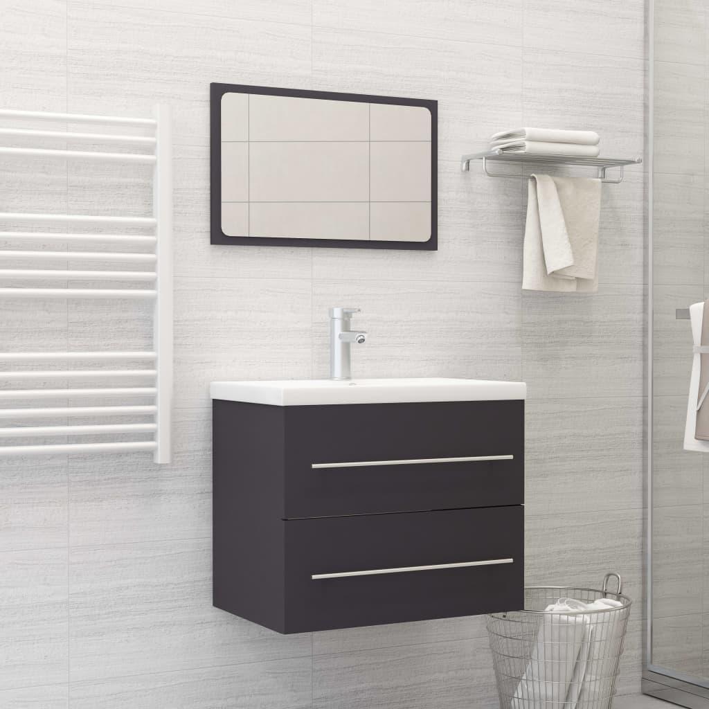 2dílný set koupelnového nábytku šedý dřevotříska
