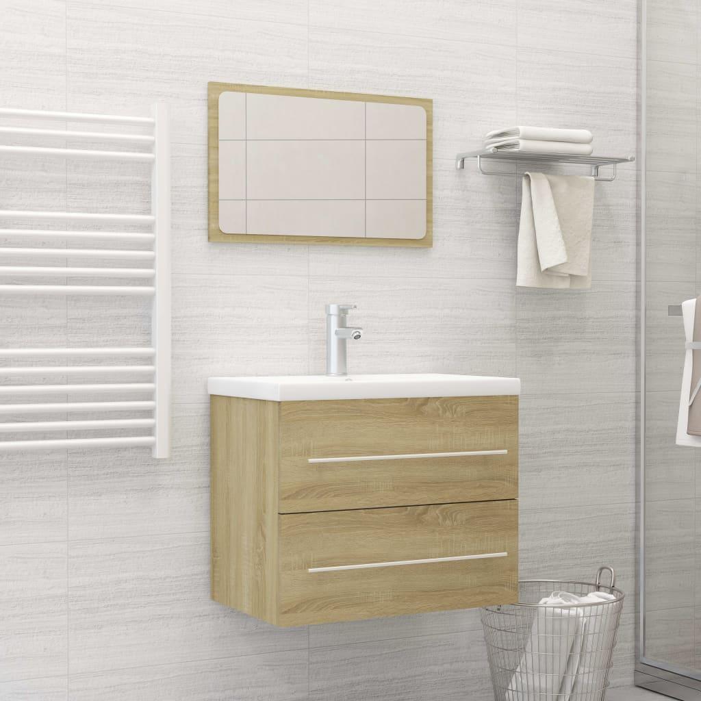2dílný set koupelnového nábytku dub sonoma dřevotříska