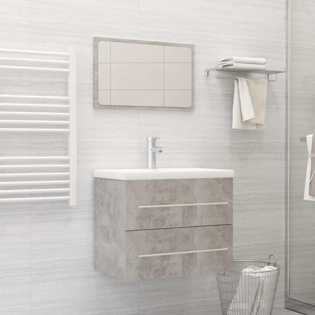 2dílný set koupelnového nábytku betonově šedý dřevotříska
