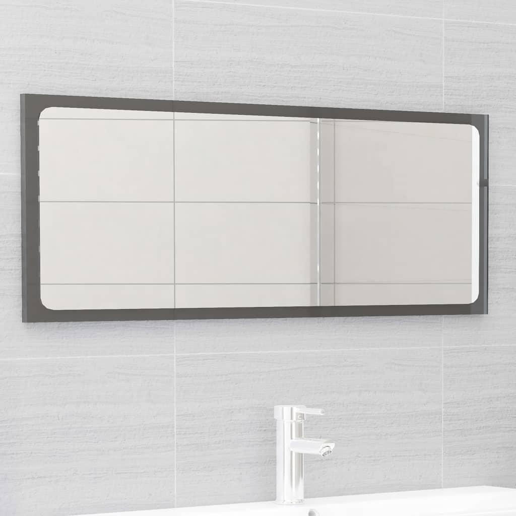 vidaXL 2-delige Badkamermeubelset spaanplaat hoogglans grijs