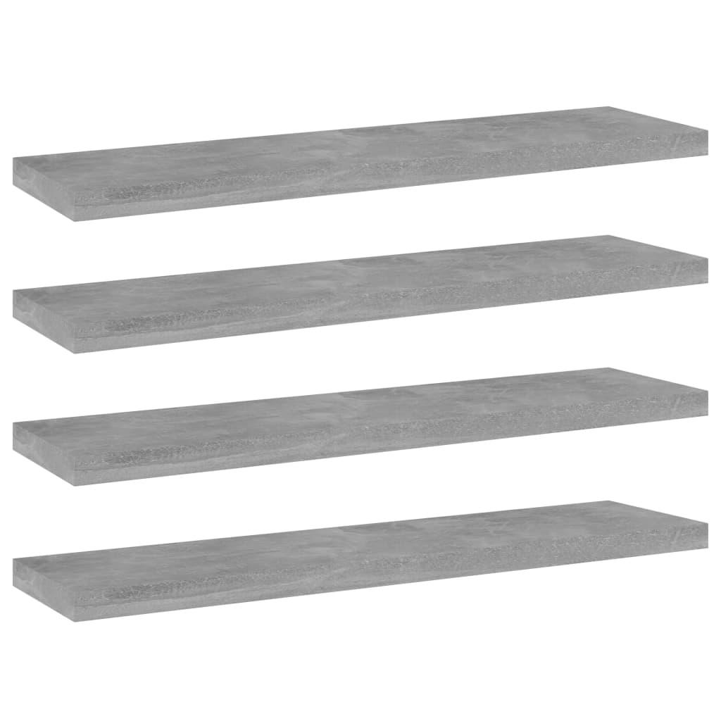 vidaXL Wandschappen 4 st 40x10x1,5 cm spaanplaat betongrijs