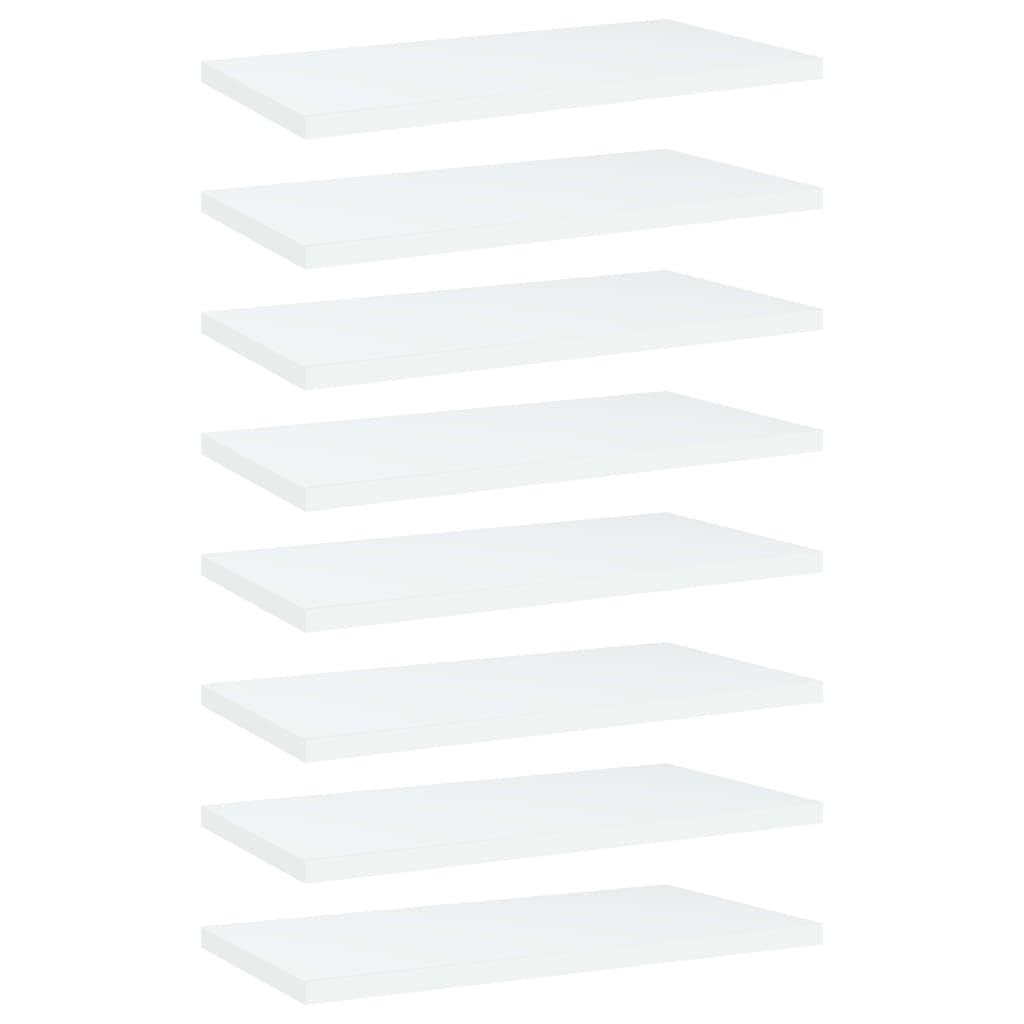 vidaXL Plăci bibliotecă, 8 buc., alb, 40 x 20 x 1,5 cm, PAL imagine vidaxl.ro