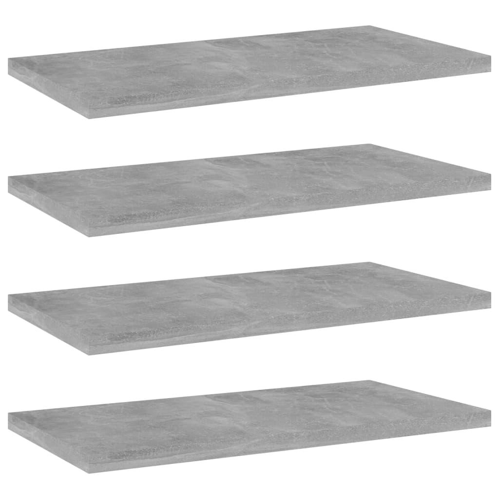 vidaXL Wandschappen 4 st 40x20x1,5 cm spaanplaat betongrijs