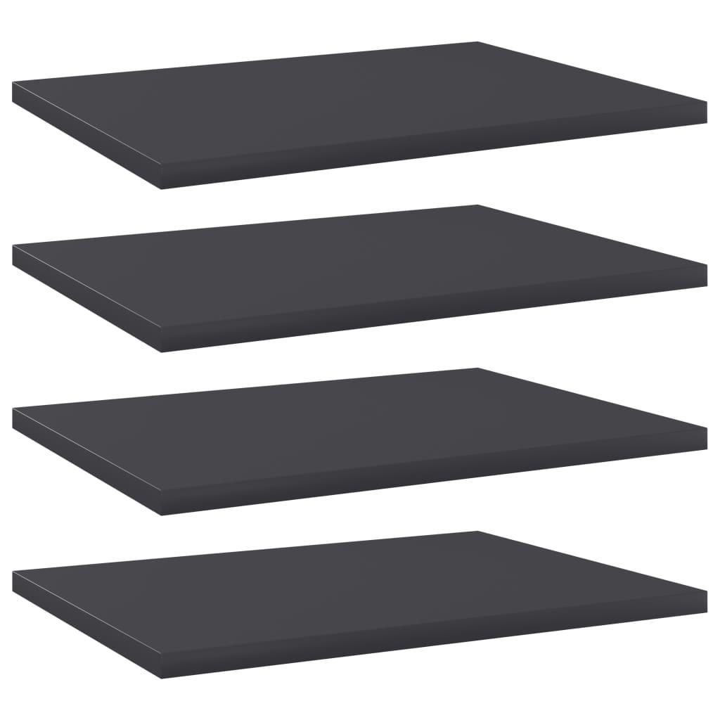 Přídavné police 4 ks šedé 40 x 30 x 1,5 cm dřevotříska