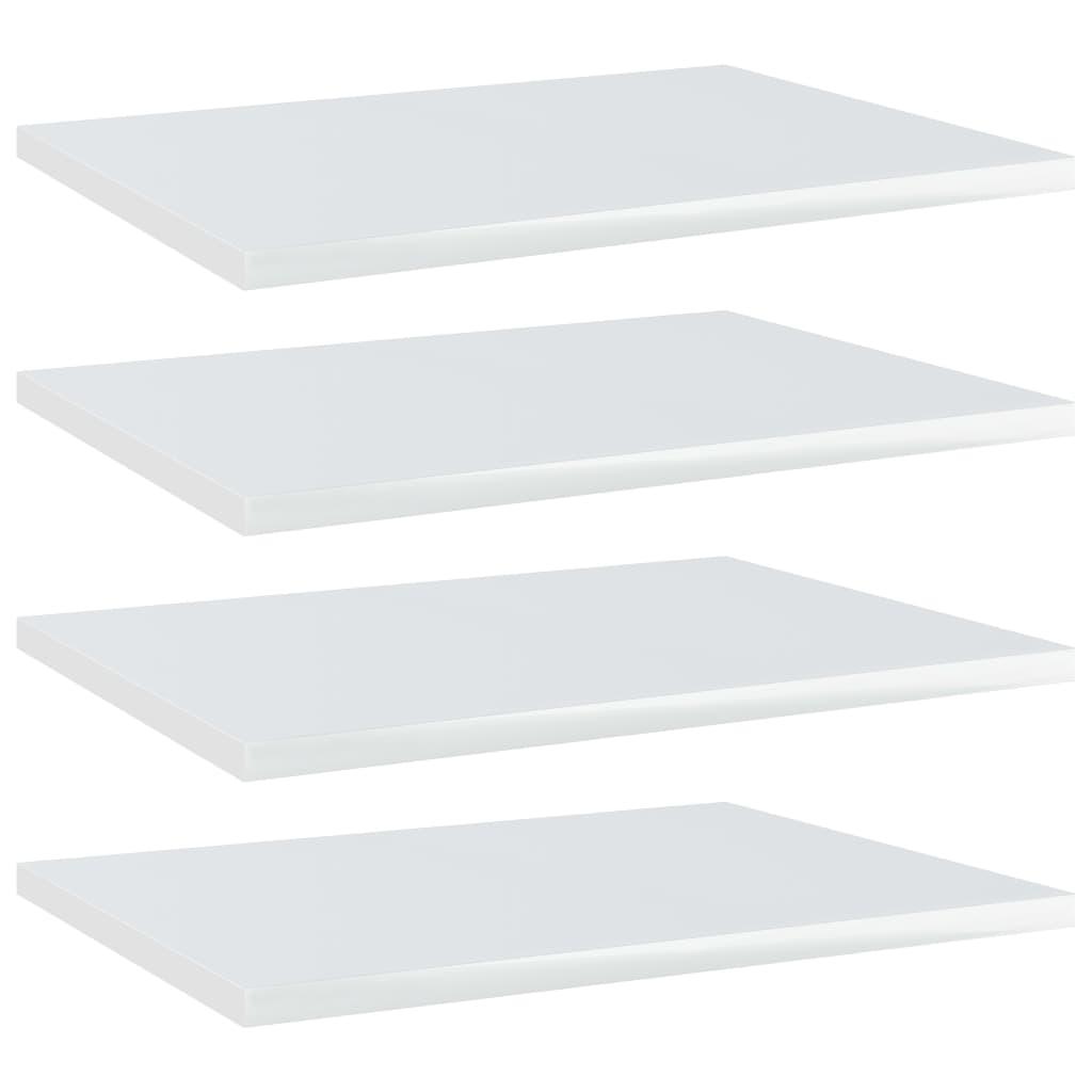 vidaXL Plăci bibliotecă, 4 buc., alb extralucios, 40 x 30 x 1,5 cm PAL imagine vidaxl.ro