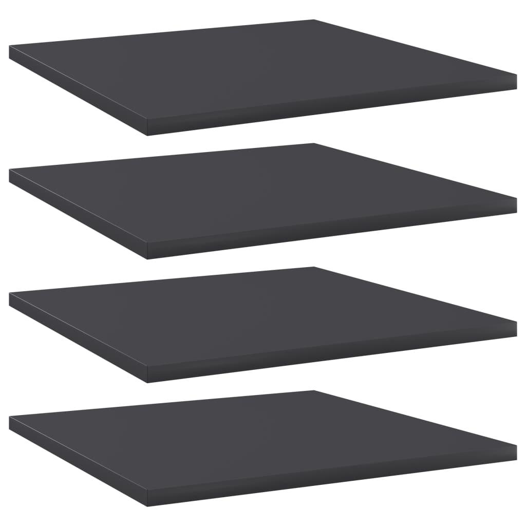 Přídavné police 4 ks šedé 40 x 40 x 1,5 cm dřevotříska
