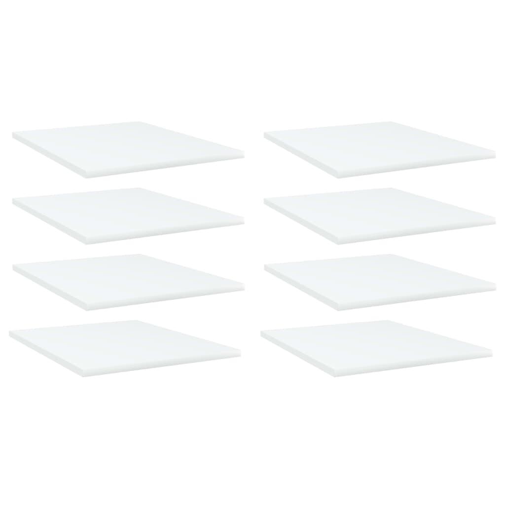 vidaXL Plăci bibliotecă, 8 buc., alb, 40 x 50 x 1,5 cm, PAL poza 2021 vidaXL