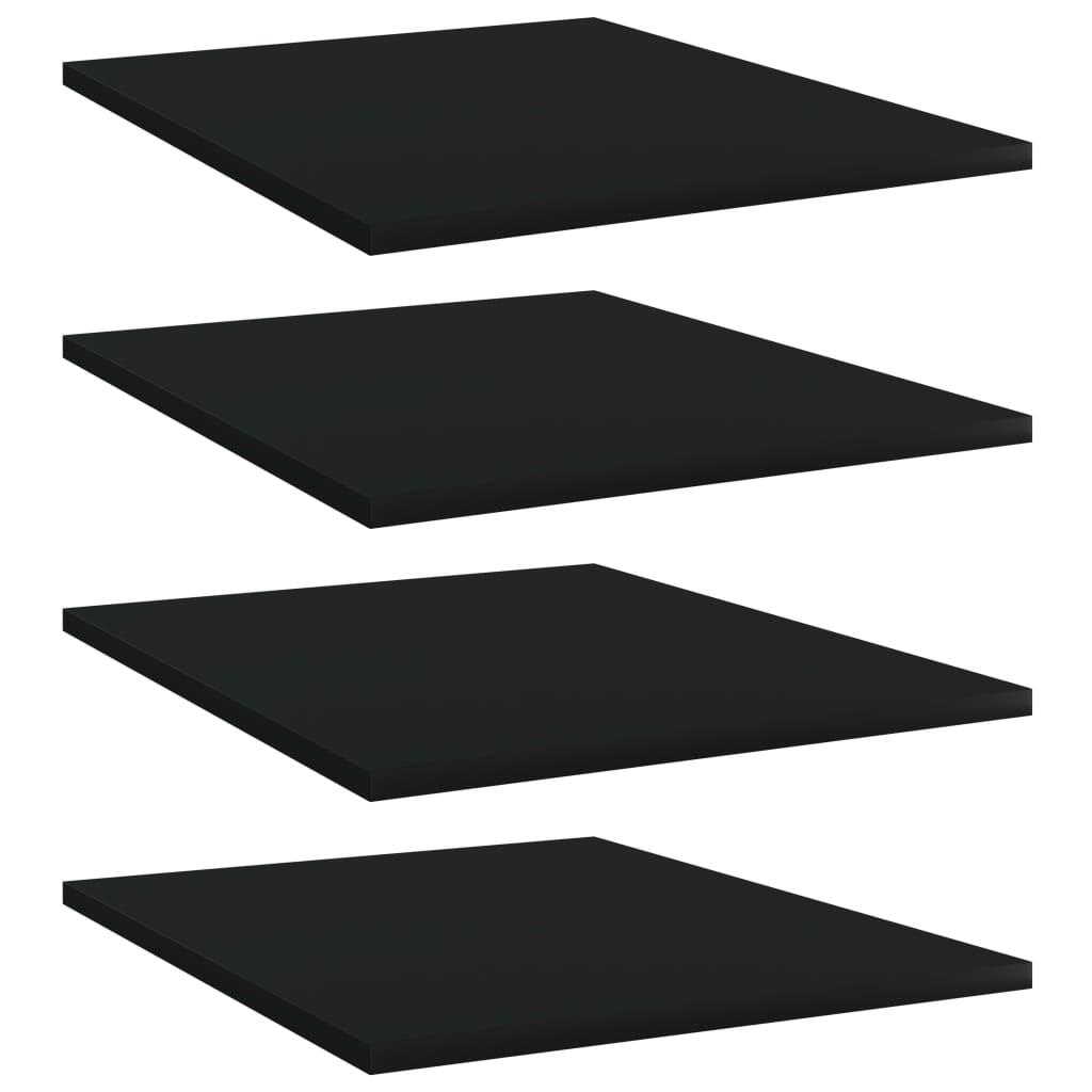 vidaXL Plăci bibliotecă, 4 buc., negru, 40 x 50 x 1,5 cm, PAL imagine vidaxl.ro