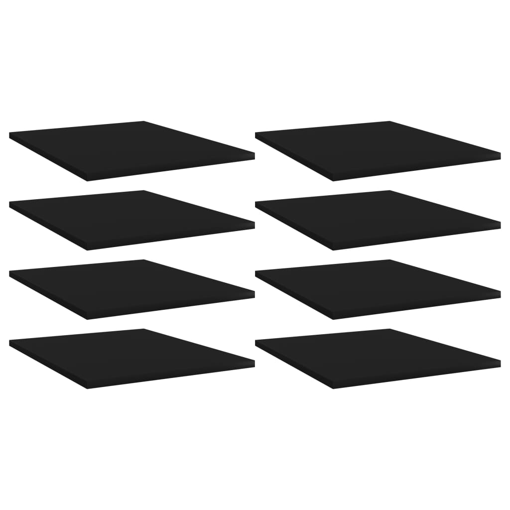 vidaXL Plăci bibliotecă, 8 buc., negru, 40 x 50 x 1,5 cm, PAL poza vidaxl.ro