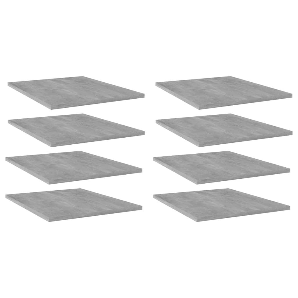 vidaXL Plăci bibliotecă, 8 buc., gri beton, 40 x 50 x 1,5 cm, PAL poza 2021 vidaXL