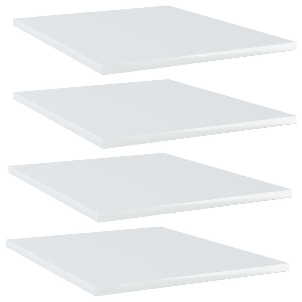 vidaXL Plăci bibliotecă, 4 buc., alb extralucios, 40x50x1,5 cm, PAL poza vidaxl.ro